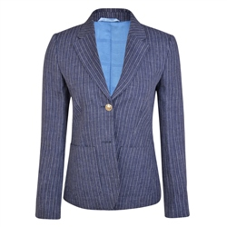 Magee 1866 Navy & White Striped Alicia Jacket