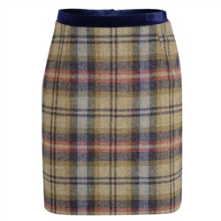 Magee 1866 Multicoloured Carey Checked Donegal Tweed Skirt