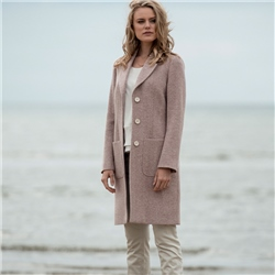 Magee 1866 Pink Emma Herringbone Donegal Tweed Coat