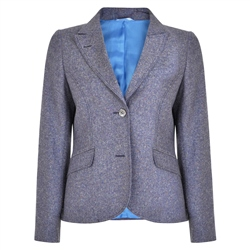 Multicoloured Lily Salt & Pepper Donegal Tweed Jacket