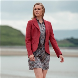 Hot Pink Lily Donegal Tweed Jacket