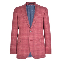 Magee 1866 Pink Check Donegal Tweed Classic Fit Jacket