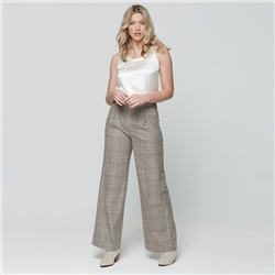 Magee 1866 Multicoloured Willow Checked Donegal Tweed wide leg trousers