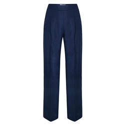 Magee 1866 Navy Willow Irish Linen Trousers