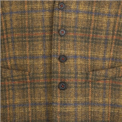 Brown Country Check 3-Piece Donegal Tweed Tailored Fit Suit