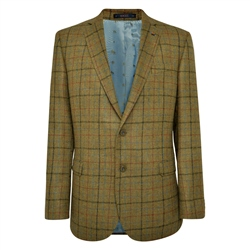 Green Country Check Donegal Tweed Classic Fit Jacket