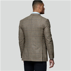 Oat Glen Check Donegal Tweed Classic Fit Jacket