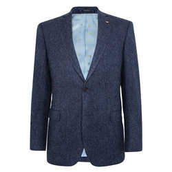 Navy Salt & Pepper Donegal Tweed Classic Fit Jacket
