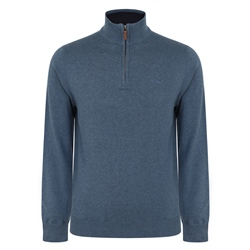 Magee 1866 Teal Carn Cotton 1/4 Zip