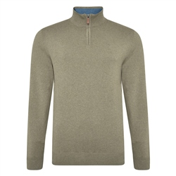 Magee 1866 Taupe Carn Cotton 1/4 Zip
