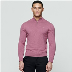 Magee 1866 Pink Carn Cotton 1/4 Zip