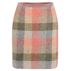 Magee 1866 Patchwork Carey Salt & Pepper Donegal Tweed Skirt