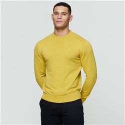 Chartreuse Carn Cotton Crew Neck Jumper