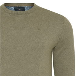 Taupe Carn Cotton Crew Neck Jumper