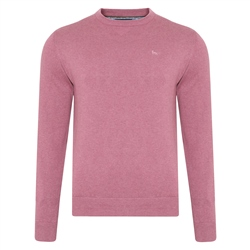 Magee 1866 Pink Carn Cotton Crew Neck Jumper