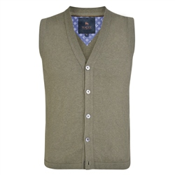 Magee 1866 Taupe Kilgole Knitted Waistcoat