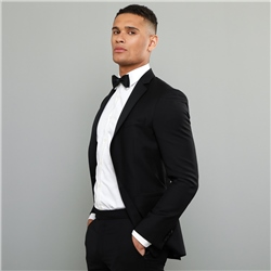 Magee 1866 Black Notch Lapel 2-Piece Tailored Fit Dinner Suit