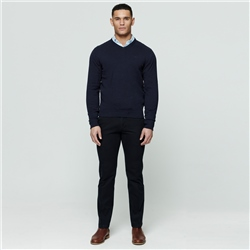 Navy Dungloe Washed Classic Fit Trouser