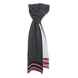 Magee 1866 Cashmere Blend Scarf in Black, Red and White