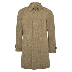 Magee 1866 Camel/Brown Erne Herringbone Donegal Tweed Raglan Coat