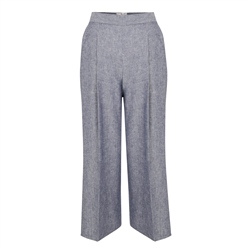 Blue Willow Cropped Trousers