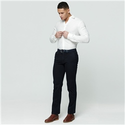 Navy Callan Washed Tailored Fit Trousers