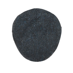 Magee 1866 Blue Herringbone Donegal Tweed Flat Cap