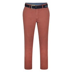 Magee 1866 Red Dungloe Washed Classic Fit Trouser