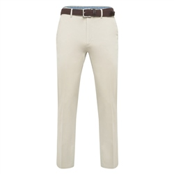 Magee 1866 Light Beige Dungloe Washed Classic Fit Trouser