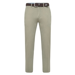 Magee 1866 Light Olive Dungloe Washed Classic Fit Trouser
