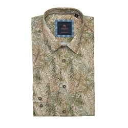 Magee 1866 Green Dunross Safari Print Tailored Shirt