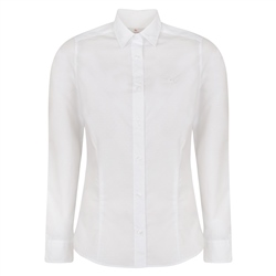 Magee 1866 White Hannah Jacquard Classic Fit Shirt