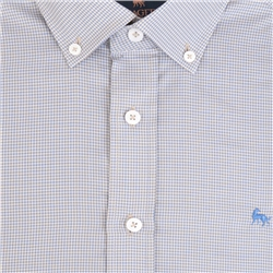 Blue Rarooey Micro Check Classic Fit Shirt