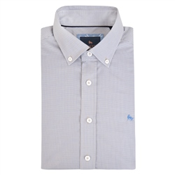 Magee 1866 Blue Rarooey Micro Check Classic Fit Shirt