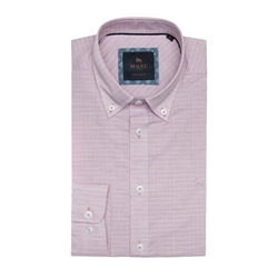 Magee 1866 Pink & White Rarooey Check Tailored Fit Shirt