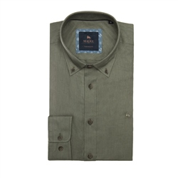 Magee 1866 Safari Green Rarooey Tailored Fit Shirt