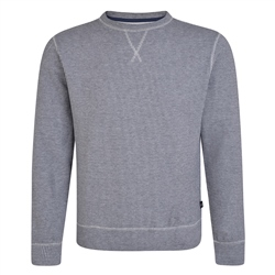 Grey & Navy Seahill Puppytooth Crew Neck Jumper