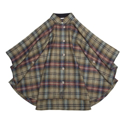 Magee 1866 Multicoloured Sorcha Checked Donegal Tweed Cape