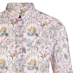 Pink Tracy Kew Road Tana Lawn Liberty Print Tailored Fit Shirt