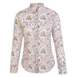 Magee 1866 Pink Tracy Kew Road Tana Lawn Liberty Print Tailored Fit Shirt