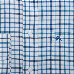 Blue Tullagh Grid Check Classic Fit Shirt