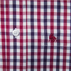 Red Tullagh Gingham Check Classic Fit Shirt