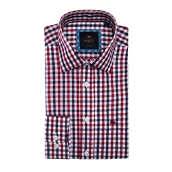 Magee 1866 Red Tullagh Gingham Check Classic Fit Shirt
