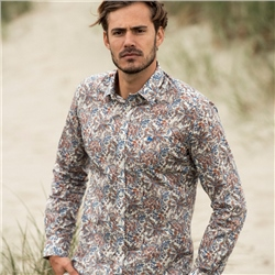 Multicoloured Dunross Floral Print Tailored Shirt
