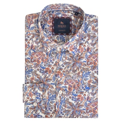 Magee 1866 Multicoloured Dunross Floral Print Tailored Shirt