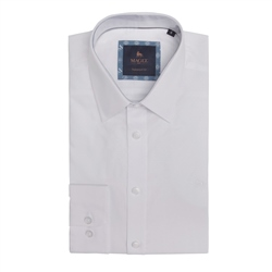 Magee 1866 Dunross Dotted Tailored Shirt in White