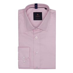 Magee 1866 Altahan Micro Houndstooth Classic Fit Shirt in Pink