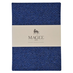 Blue Donegal Tweed Notebook A5