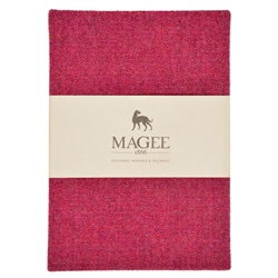 Pink Donegal Tweed Magee Note Book A5