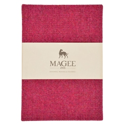 Pink Donegal Tweed Notebook A6